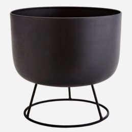 round-black-flower-pot-with-stand-by-madam-stoltz