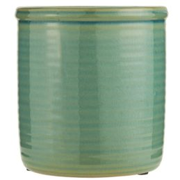 ceramic-glazed-green-pot-with-grooves-by-ib-laursen