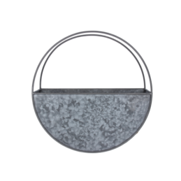 large-galvanized-wall-planter-circular-36-cm-by-gisela-graham
