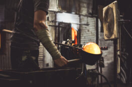 Creating_true_hand_blown_glass_dome