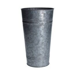small-metal-galvanized-planter-slim-bucket-vase-by-gisela-graham