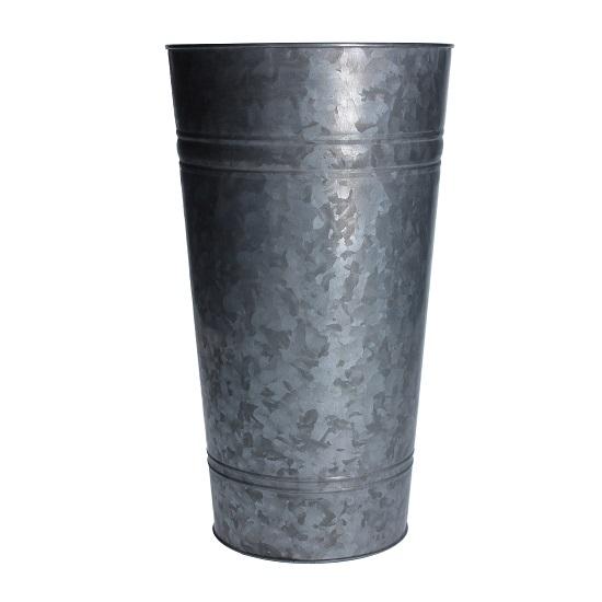 medium-metal-galvanized-planter-slim-bucket-vase-by-gisela-graham