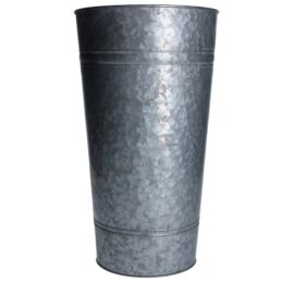 large-metal-galvanized-planter-slim-bucket-vase-by-gisela-graham