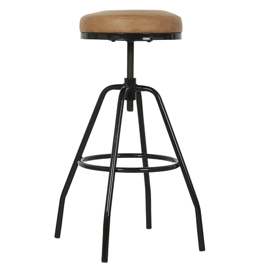adjustable-metal-stool-with-artifical-letaher-seat-by-ib-laursen