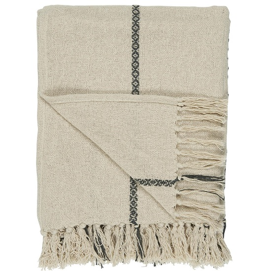 100-cotton-blanket-throw-cream-with-woven-black-stripe-oblong-by-ib-laursen