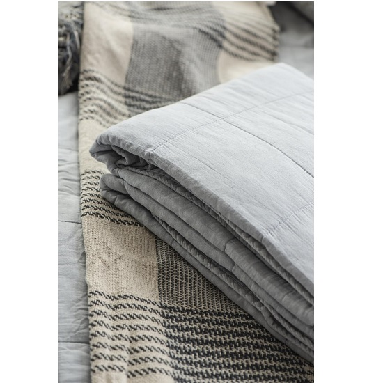 100-cotton-blanket-throw-cream-with-blue-check-pattern-by-ib-laursen