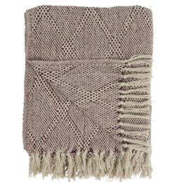 100-cotton-blanket-throw-cream-with-burgundy-harlequin-pattern-by-ib-laursen