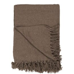 100-cotton-brown-blanket-throw-by-ib-laursen