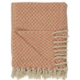 100-cotton-blanket-throw-cream-with-orange-pattern-by-ib-laursen