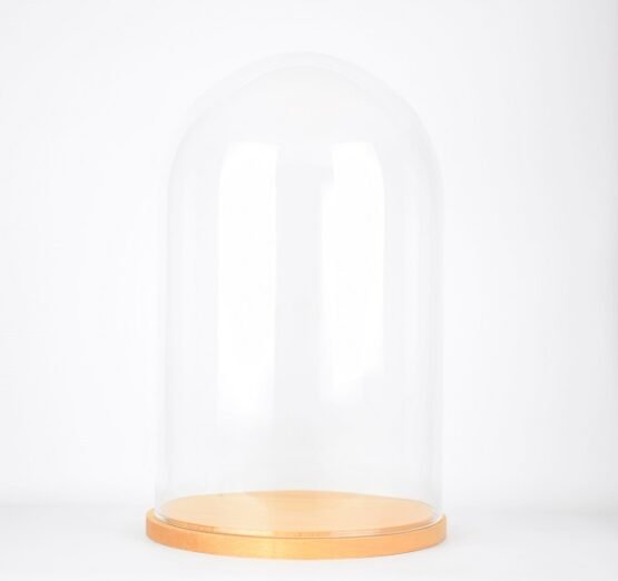 large-handmade-mouth-blown-glass-dome-with-natural-wooden-base-52x31-cm