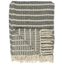 100-cotton-blanket-throw-cream-grey-with-stripe-pattern-by-ib-laursen