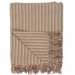 100-cotton-blanket-throw-cream-rust-with-stripes-by-ib-laursen