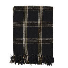 checked-woven-blanket-throw-black-beige-by-madam-stoltz