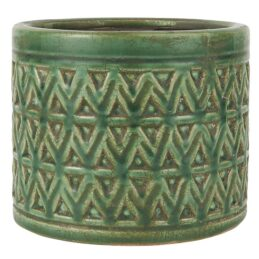 ceramic-pot-with-zig-zag-patern-green-by-ib-laursen