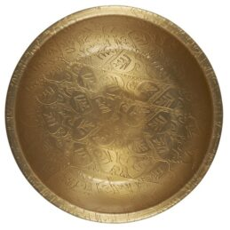 small-tray-bowl-with-leaf-pattern-antique-brass-finish-by-ib-laursen