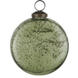 christmas-baubles-ornament-flat-pebbled-glass-moss-green-by-ib-laursen