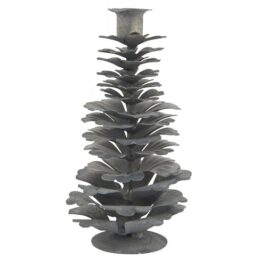 candle-holder-cone-for-taper-candle-grey-ib-laursen