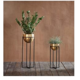 atsu-small-elegant-planter-with-stand-antique-brass-by-nkuku