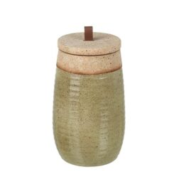 earthenware-jar-with-lid-olive-green-tall-26-cm-by-parlane