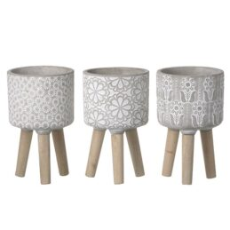 3-assorted-cement-floral-planters-on-wood-legs-small-by-parlane