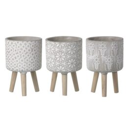 3-assorted-cement-floral-planters-on-wood-legs-medium-by-parlane