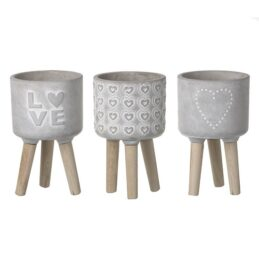 3-assorted-cement-love-planters-on-wood-legs-by-parlane