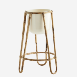 bamboo-flower-stand-with-cream-iron-pot-by-madam-stoltz