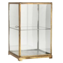 antique-gold-metal-display-cabinet-with-1-shelf-h41-5-cm-by-ib-laursen