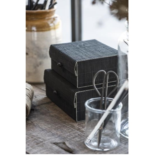 set-of-2-decorative-bamboo-box-with-lid-black-by-ib-laursen
