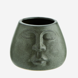 small-green-stoneware-flower-pot-with-face-imprint-by-madam-stoltz