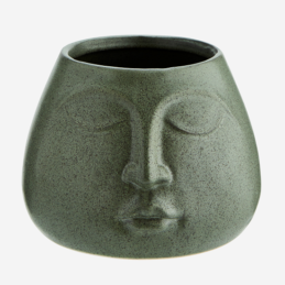 medium-green-stoneware-flower-pot-with-face-imprint-by-madam-stoltz