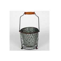 bucket-with-pot-plant-holder-grey-by-originals