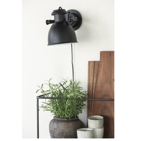 black-wall-lamp-with-switch-on-cable-by-ib-laursen
