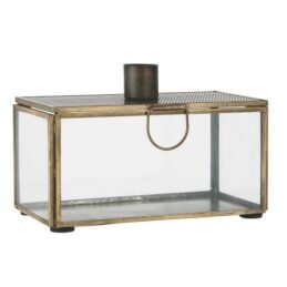 decorative-antique-gold-glass-display-box-with-candle-holder-by-ib-laursen