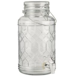 jar-glass-drinks-dispenser-with-pattern-in-the-glass-3-5-liter-by-ib-laursen