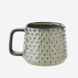 stoneware-green-mug-with-dots-300-ml-by-madam-stoltz