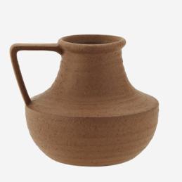 red-stoneware-vase-tall-15-cm-by-madam-stoltz