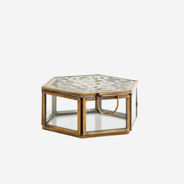 hexagonal-brass-glass-storage-box-with-carvings-lid-by-madam-stoltz