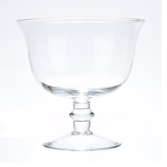 mouth-blown-clear-glass-footed-fruit-salad-bowl-dish-wedding-centerpiece-21-cm