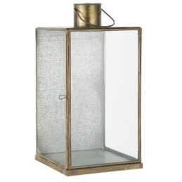 lantern-with-punched-front-3-glass-sides-brass-40-cm-by-ib-laursen