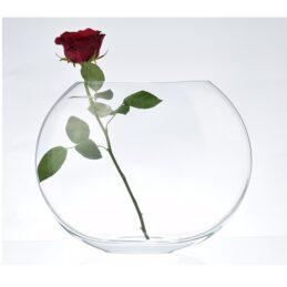 thick-semi-circle-glass-vase-handmade-h-24-5-cm