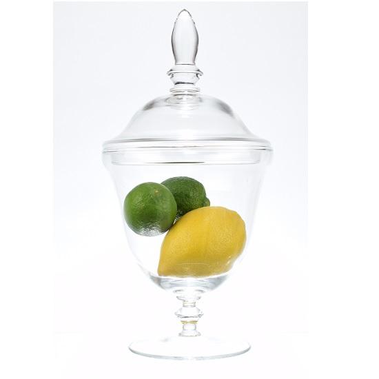 handmade-footed-glass-jar-cookie-sweet-bonbon-storage-jar-bowl-with-lid-32-5-cm