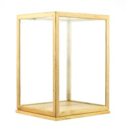 Glass and Wooden Frame Display Showcase Cover With Base by EMH 31 cm