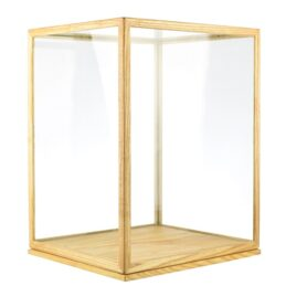 Large Glass and Wooden Frame Display Showcase Cover With Base by EMH 41 cm