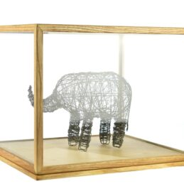 Large Glass and Wooden Frame Display Showcase Cover With Base by EMH 31 cm