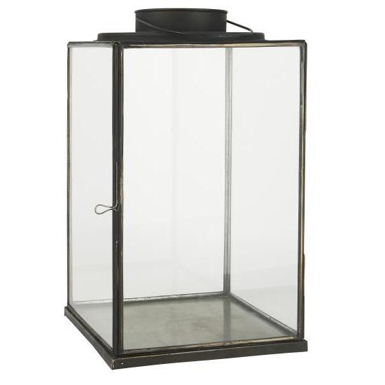 large-glass-lantern-pillar-candle-holder-black-42-cm-by-ib-laursen